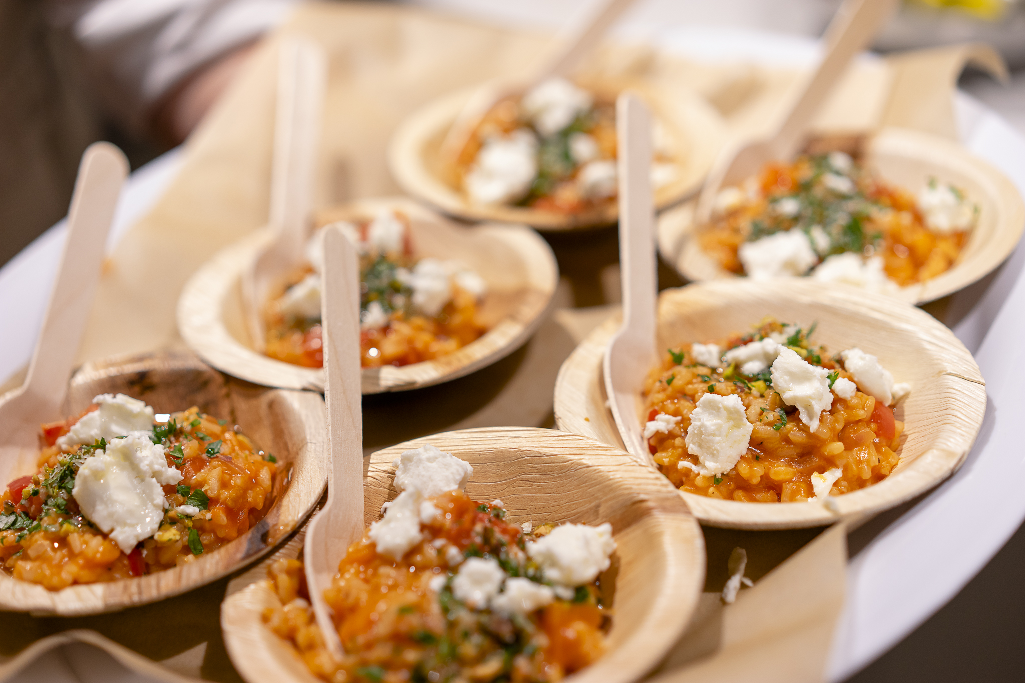 Roasted Tomato Risotto at the 3VM launch. Image: Scott Gallagher